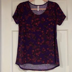 LuLaRoe purple and red Classic T shirt S NWT